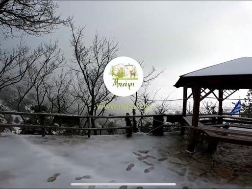 Έπεσαν τα πρώτα χιόνια στην Πάρνηθα! Ξεκίνησε ο «Λέανδρος» την επέλαση του