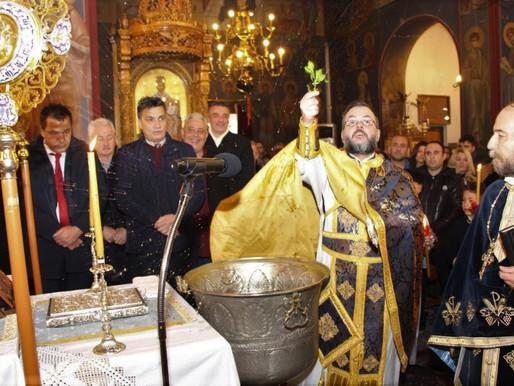 Βροχερός αλλά Μεγαλόπρεπος ο εορτασμός των Θεοφανείων  στον  Άγιο Κωνσταντίνο Άνω Λιοσίων