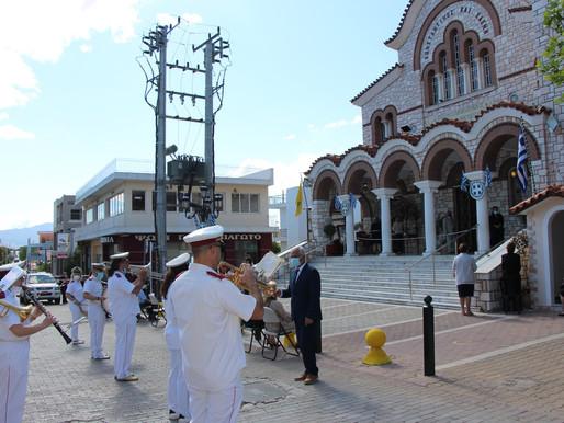 Μεγαλόπρεπος και με μέτρα προστασίας ο εορτασμός των Πολιούχων Αγίων Κων/ντίνου & Ελένης Άνω Λιοσίων