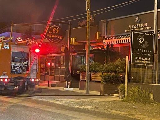 Φωτιά σε πιτσαρία στην Λ. Θρακομακεδόνων