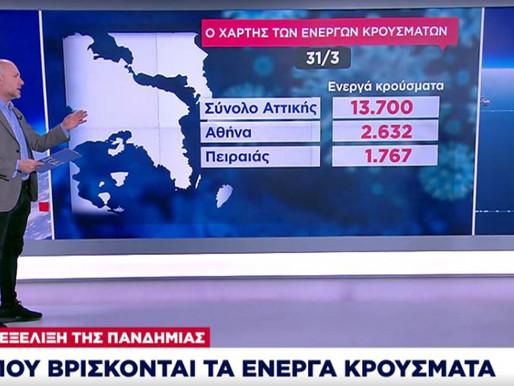 889 ενεργά κρούσματα κορονοϊού στις Αχαρνές! - Δείτε τον χάρτη με τα ενεργά σε όλη την Αττική