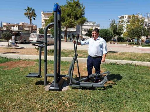 Έτοιμο το πρώτο υπαίθριο γυμναστήριο του Δήμου Αχαρνών!