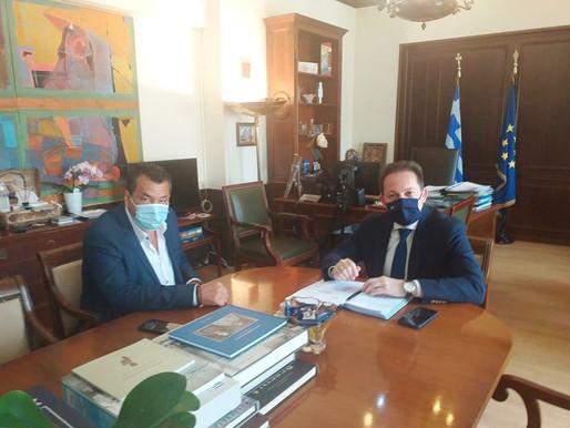 Συνάντηση του Δημάρχου Φυλής Χρήστου Παππού με τον Υπουργό Εσωτερικών Στέλιο Πέτσα