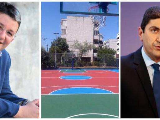 15 ανοιχτά γήπεδα σε κάθε γειτονιά των Αχαρνών εξασφάλισε ο Σπύρος Βρεττός απ'τον Λευτέρη Αυγενάκη