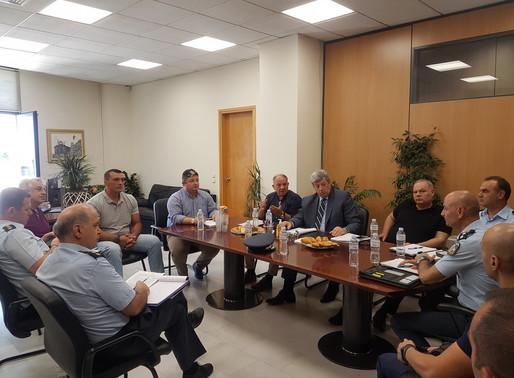 Σύσκεψη με υψηλόβαθμα στελέχη της Ελληνικής Αστυνομίας στον Δήμο Αχαρνών