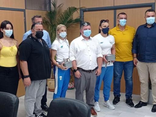 Ο Δήμος Αχαρνών ξεπροβόδισε για τους Ολυμπιακούς του Τόκιο  Ελισάβετ Τελτσίδου & Βούλα Παπαχρήστου