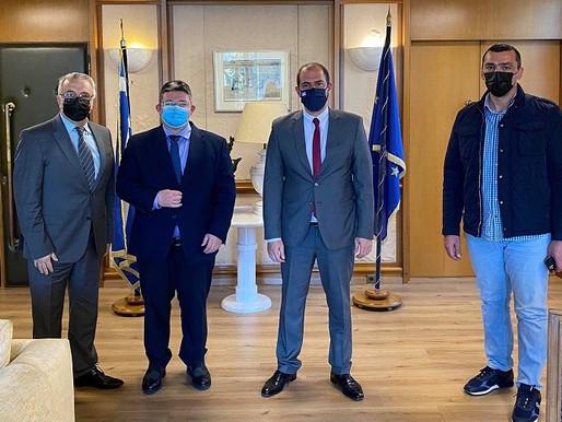 Τον υφυπουργό Δικαιοσύνης Γ. Κώτσηρα συνάντησε ο Δήμαρχος Αχαρνών για την πάταξη της εγκληματικότητα