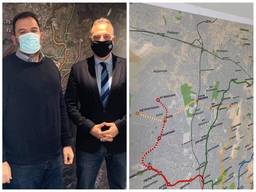 Επέκταση του ΜΕΤΡΟ στις Αχαρνές ζήτησε ο Πρόεδρος της ΣΤΑΣΥ Χάρης Δαμάσκος από την ΑΤΤΙΚΟ ΜΕΤΡΟ