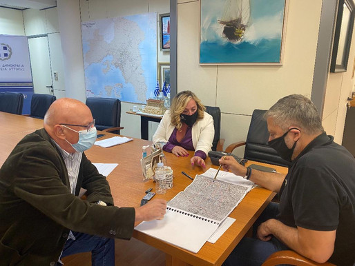 Με γοργούς ρυθμούς προχωρά η ολοκλήρωση της αντιπλημμυρικής μελέτης για το κέντρο των Αχαρνών