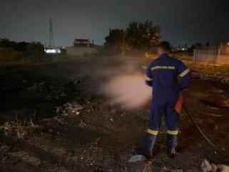 Φωτιά δίπλα από το Βαμβακάρειο Ίδρυμα προκάλεσε συναγερμό