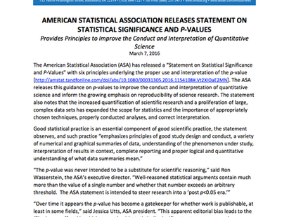The reign of p-values is over. Statisticians rejoice!
