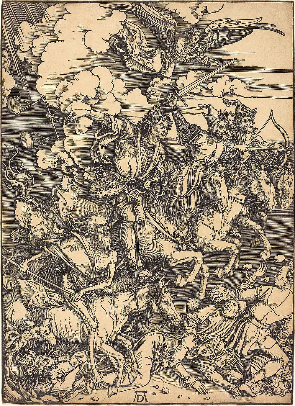 The Four Horsemen, Albrecht Durer, c 1496, National Gallery of Art