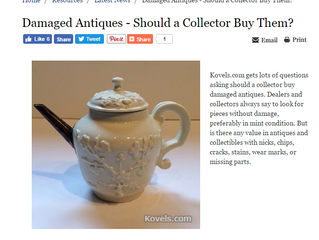 Whether or Not to Buy Damaged Antiques