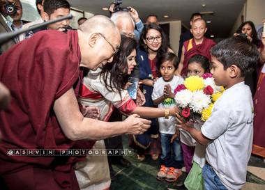 Dalai lama event shoot with Smile Foundation