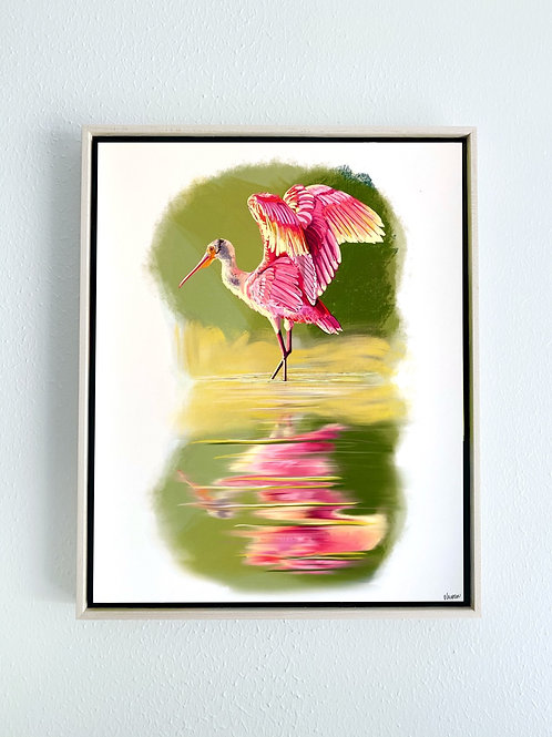 """Gilded Feathers Framed 8x10"""" Print"""