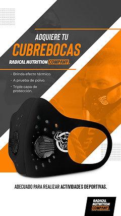 Cubrebocas Deportivo con 3 Filtros N95 Desechables