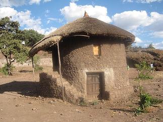 traditional farmers home - people upstai