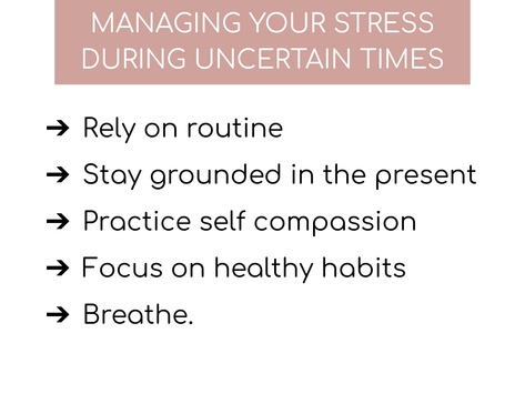 SELF CARE FOR TEACHERS: 5 Things you can do Right now During this Uncertain Time
