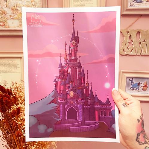 Lámina Castillo Disneyland Paris