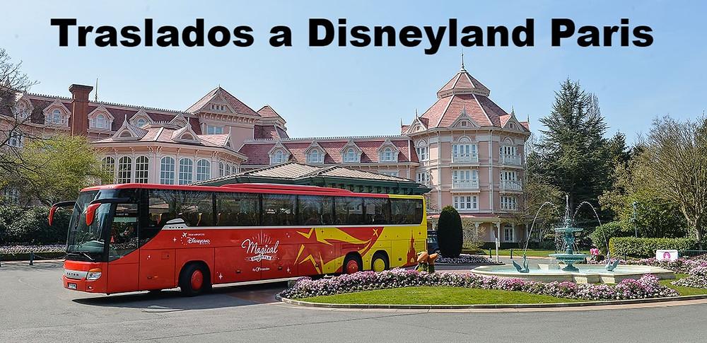 traslados Disneyland Paris taxi autobus Magical Shuttle Super Shuttle lanzadera aeropuerto tren