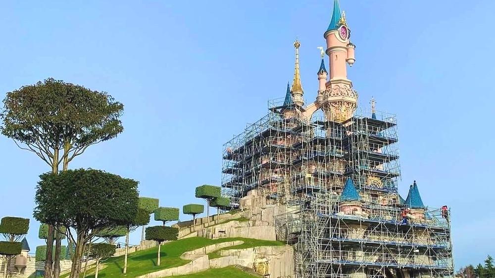 Rehabilitación del Castillo de la Bella Durmiente Disneyland Paris