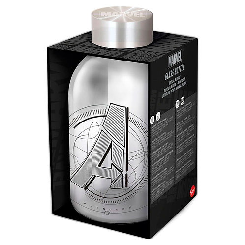 Botella cristal Vengadores Marvel 620ml