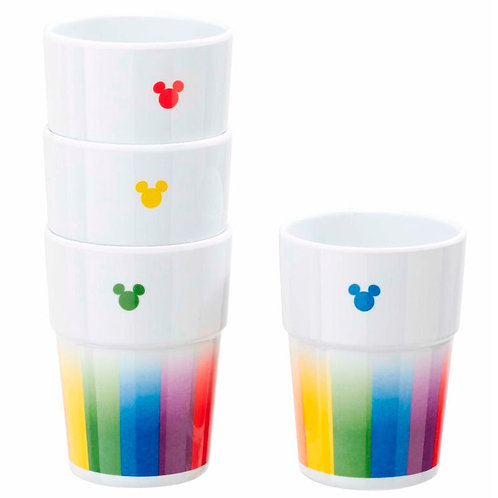Pack 4 vasos Mickey Rainbow