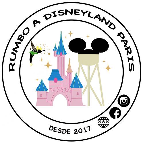 Pack Chapa Logo Rumbo a Disneyland Paris