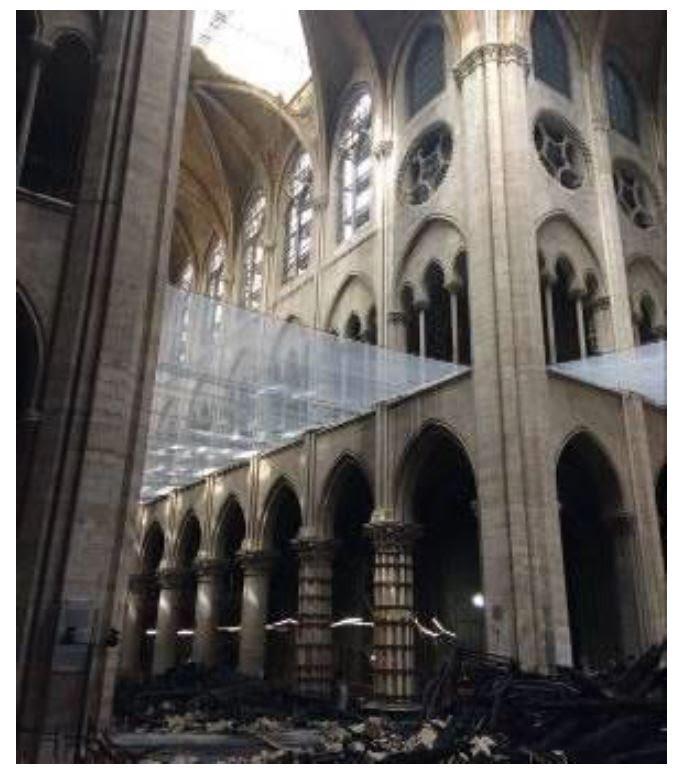 Avance y obras tras el incendio de la Catedral de Notre Dame de París