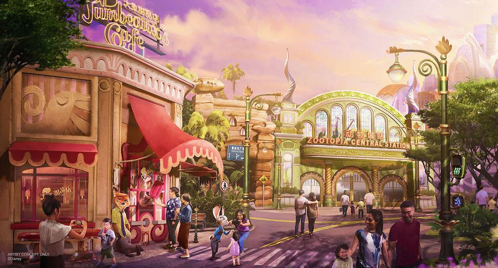 Zootopía llega a Shanghai Disney Resort