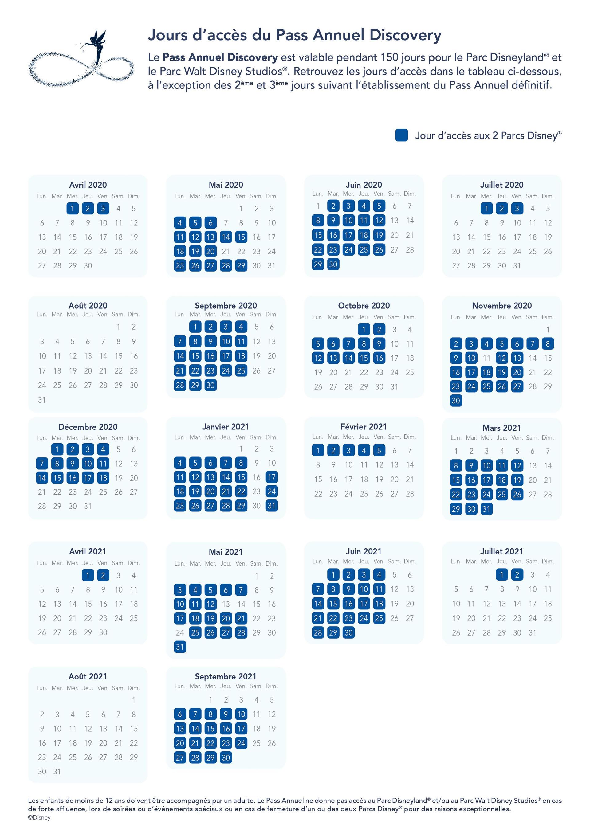 Calendario acceso Discovery