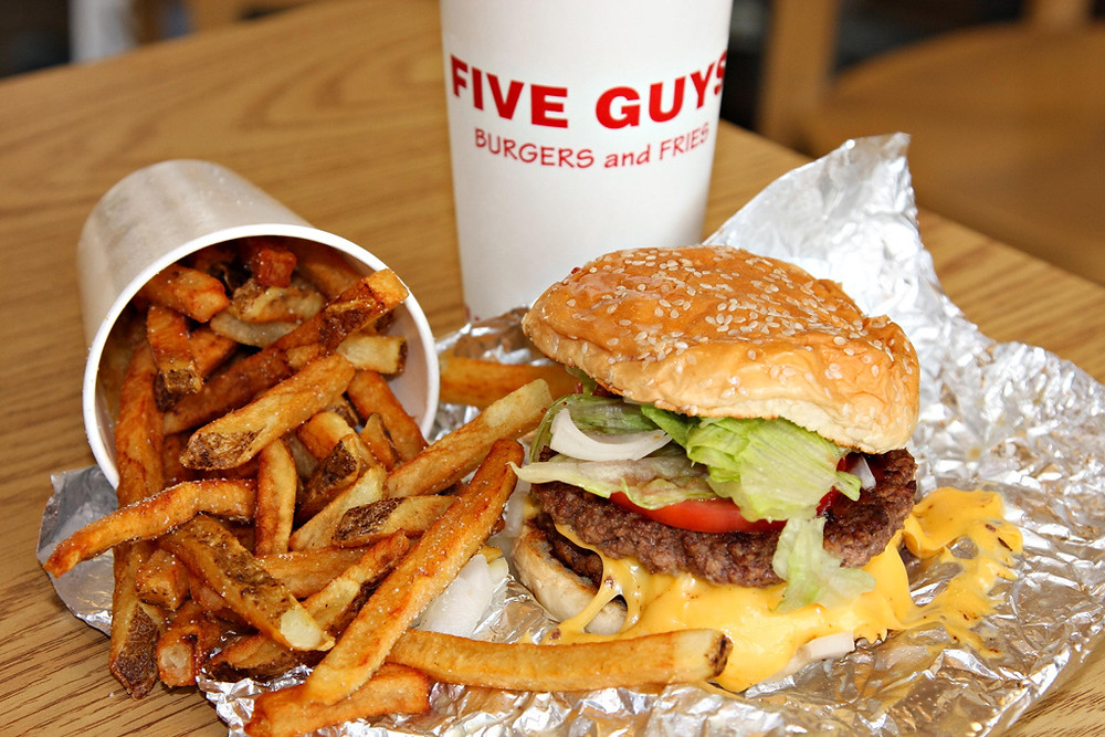 Five Guys en Disney Village Disneyland Paris