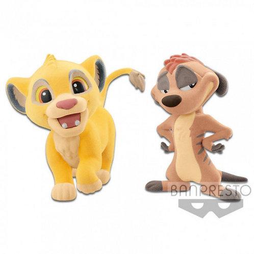 Set figuras Simba y Timon Fluffy Q Posket