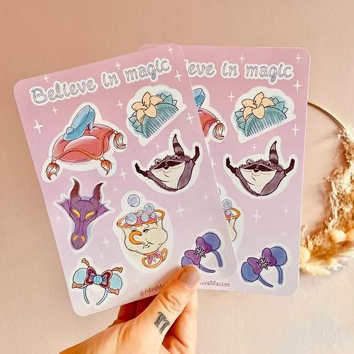 Set stickers