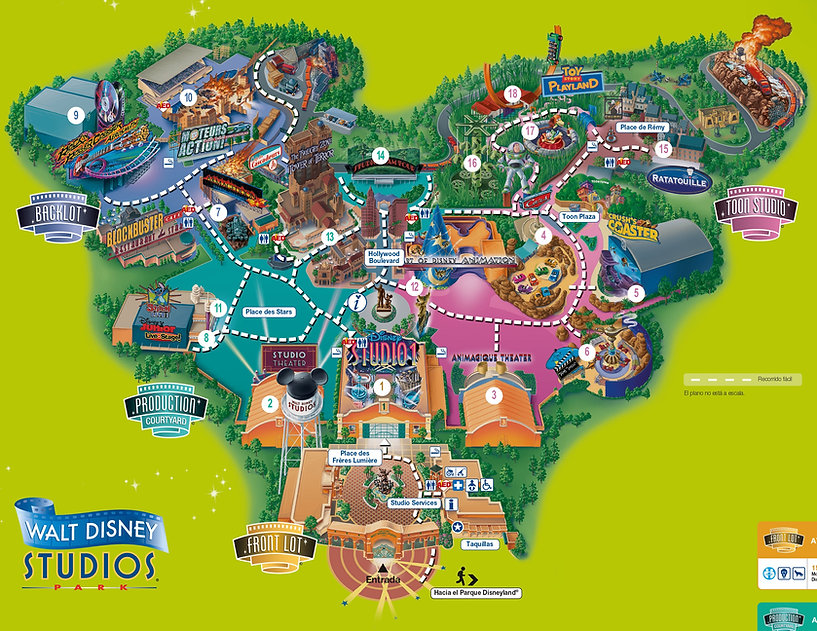 Disneyland Paris informacion castillo reservas cosejos plano Walt Disney Studios