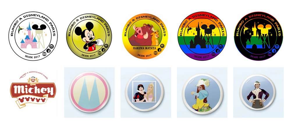 Chapas Solidarias de Rumbo a Disneyland Paris