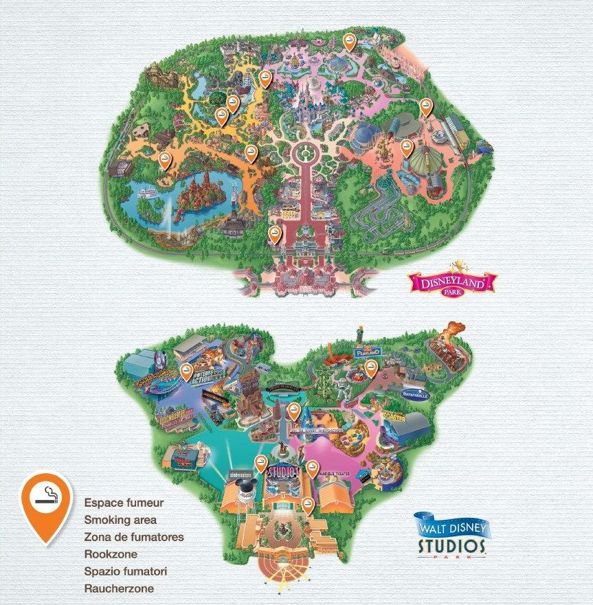 Zona de fumadores en Disneyland Paris y Walt Disney Studios