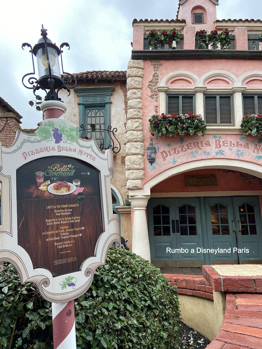 Pizzeria Bella Notte en Disneyland Paris