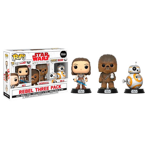 Set 3 figuras POP Star Wars Good Guys Exclusive