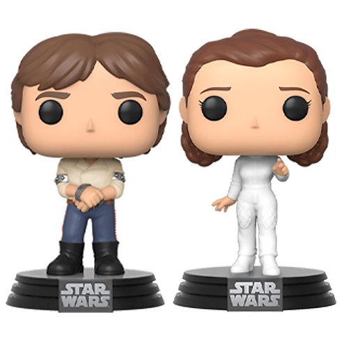 Set 2 figuras POP Star Wars Han & Leia