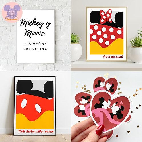 Set Mickey Minnie