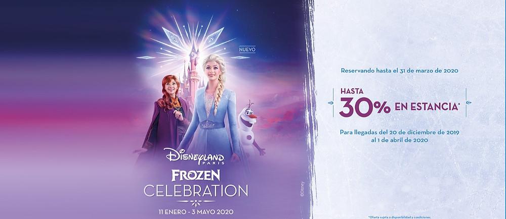 Oferta Hasta -30% Descuento Disneyland Paris: temporada Frozen Celebration