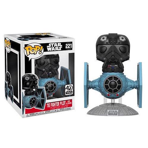 Figura POP Star Wars Tie Fighter with Tie Pilot 15cm Exclusive
