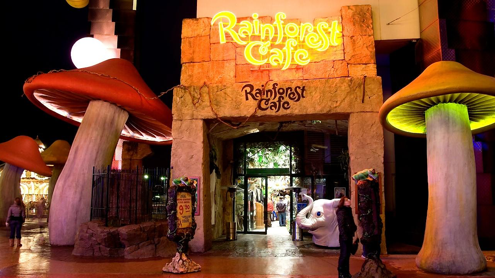Rainforest Cafe en Disney Village Disneyland Paris