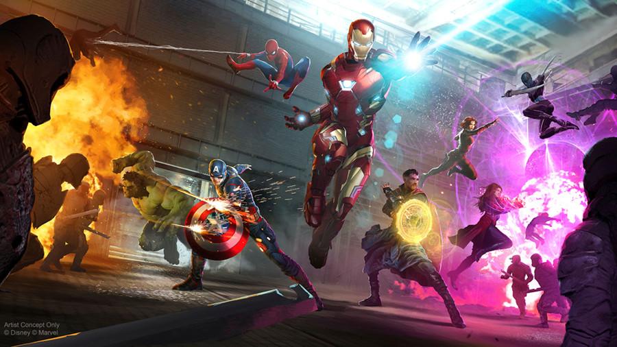 Superhéroes Marvel Disneyland Paris Iron Man Walt Disney Studios Capitán América, Thor, Black Widow, Star-Lord, Gamora SpiderMan