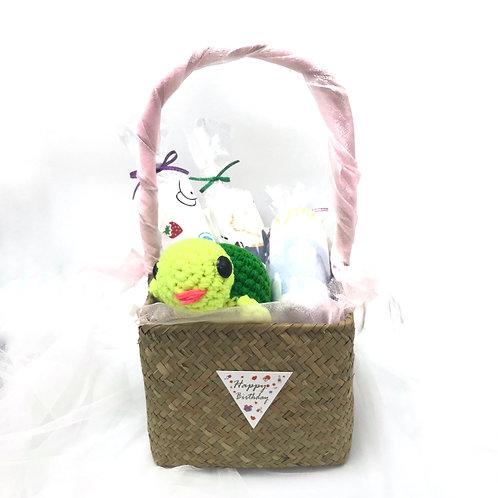 嬰兒禮品籃 - 烏龜