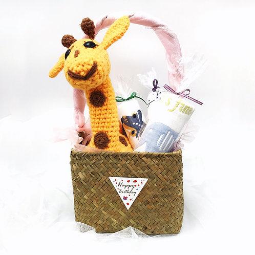 嬰兒禮品籃 - 長頸鹿