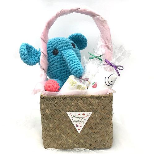 嬰兒禮品籃 - 大象