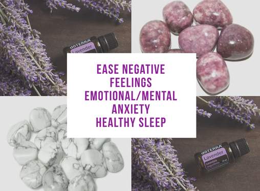 Lavender Essential Oil & Crystal Collection