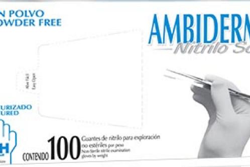Guante de nitrilo chicos ambiderm c/100 pz
